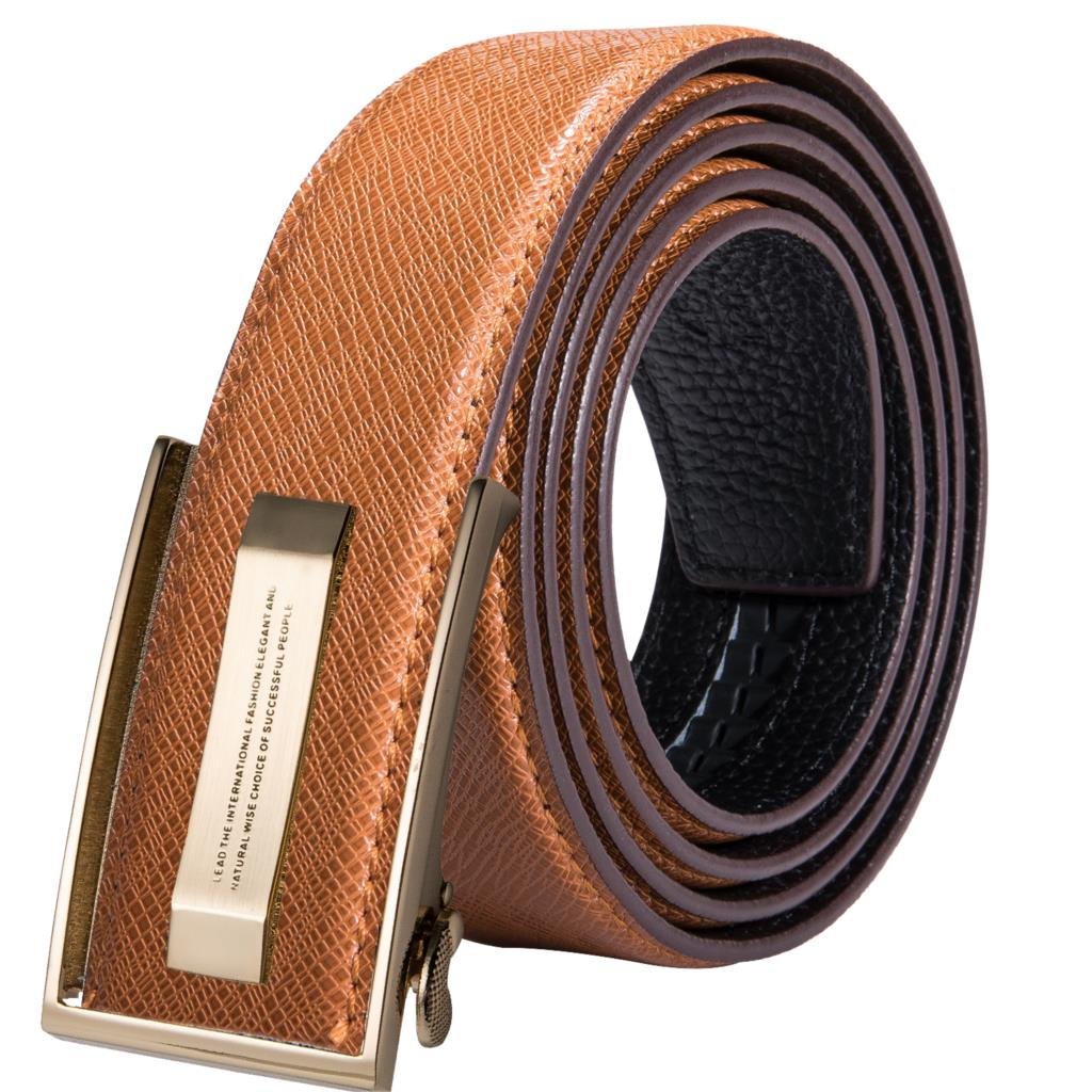 PY-2036 Hi-Tie Men's Brown   Belt   for Jeans New Yellow Green Blue Leather Jeans   Belts   Fashion Cowboy Genuine Leather   Belt   Strap