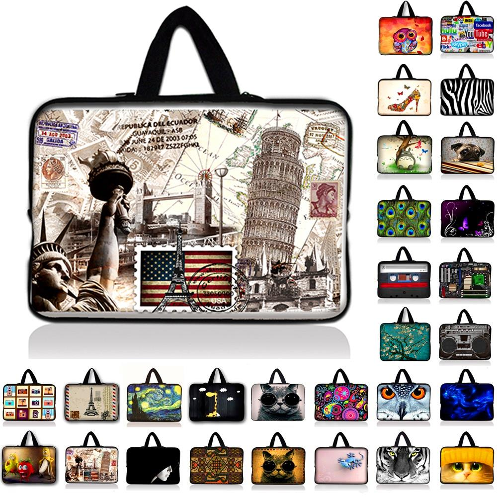 Neoprene Laptop Bag For Notebook Netbook Sleeve Cases Tablet Pouch For 7 10 12 13.3 14 15 15.4 15.6 17.3 inch Computer Briefcase