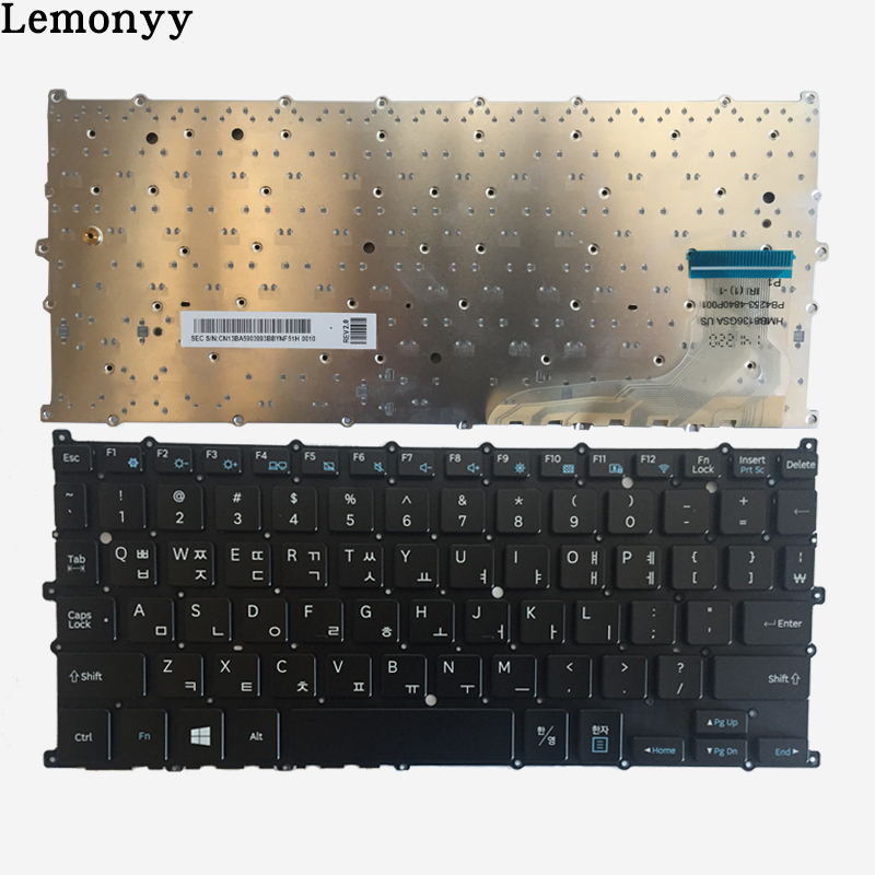 NEW Korean Keyboard For Samsung 930X2K NP930X2K KR laptop keyboard black wing mirror glass indicator for vw golf 5