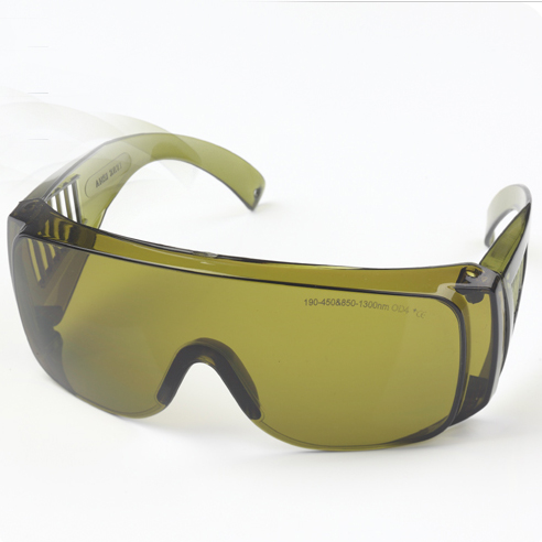 98nm and 1064nm laser safety glasses with O.D 4+ CE,  for 190-450nm & 850-1300nm lasers
