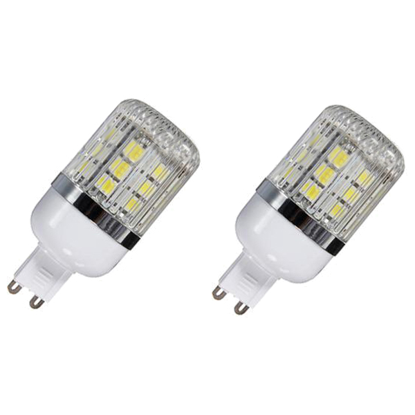 G9 5W Dimmable 27 SMD 5050 LED Corn Light Bulb Lamp Color Temperature:Pure White(6000-6500K) Amount:10 Pcs g9 5w dimmable 27 smd 5050 led corn light bulb lamp color temperature pure white 6000 6500k amount 8 pcs