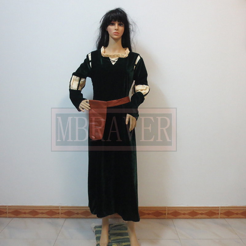 Brave Merida Cosplay  costume Brave Merida dress Any Size