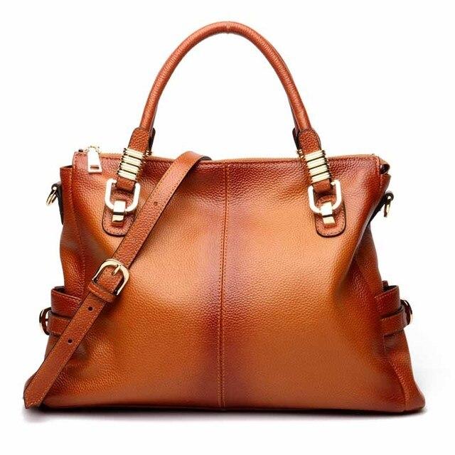 Genuine Leather Vintage Ladies Handbags Women Bags Hair Ball Shoulder Bag  Motorcycle Messenger Bag Top- 82de2fc77bb2f
