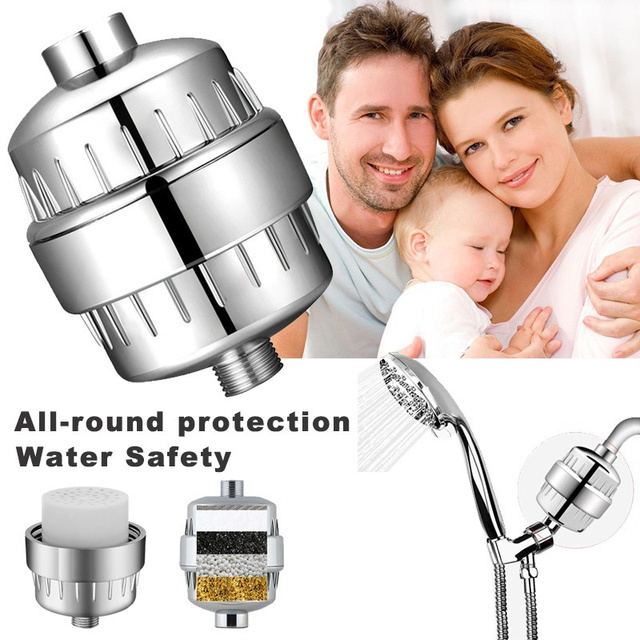 High Output Multi-Stage Universal Shower Water Filter For Hard Water - Shower Head Filter Remove Chlorine