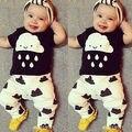 Lindo Recién Nacido camiseta Pantalones Del Bebé Que Arropan el sistema Trajes 3 6 9 12 18 24 Meses 2016 Nuevo envío Rápido entrega