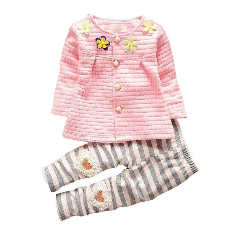 BibiCola Baby girls outfits children suit kids set