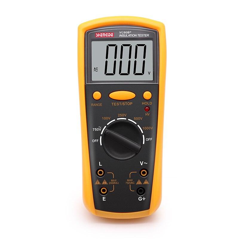 Testeur de résistance d'isolement VC60B + testeur de mégohmmètre numérique testeur d'isolement est plus efficace que le BM500