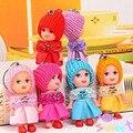 1 pc New Kids Brinquedos Bonecas Confusas com Diamante Mini Boneca Bonito para As Meninas Bonecas Interativas Macio Pequeno Pingente