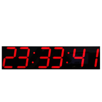 Oversize Led Digital Wall Clock with Remote Control Large Temperature Calendar Display Support Countdown Stopwatch