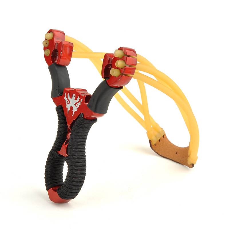 Red Blue 2 Color Wolverine Slingshot Alloy Stainless Steel Outdoor Shooting Hunting and Fishing Nostalgic Toys