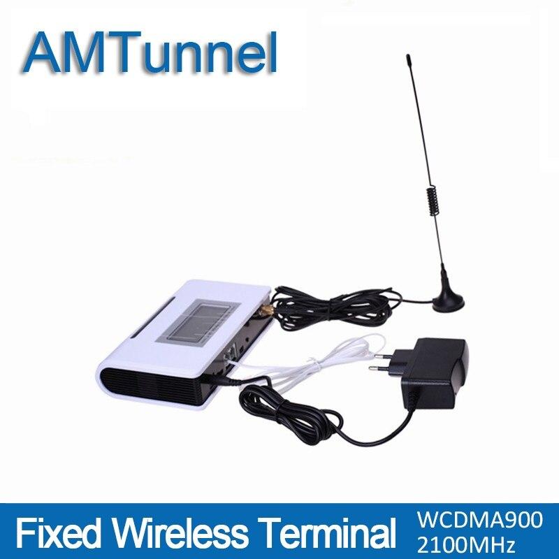 3G WCDMA2100Mhz terminal inalámbrico fijo UMTS terminal con pantalla LCD para la conexión de teléfono de escritorio para hacer llamadas de teléfono