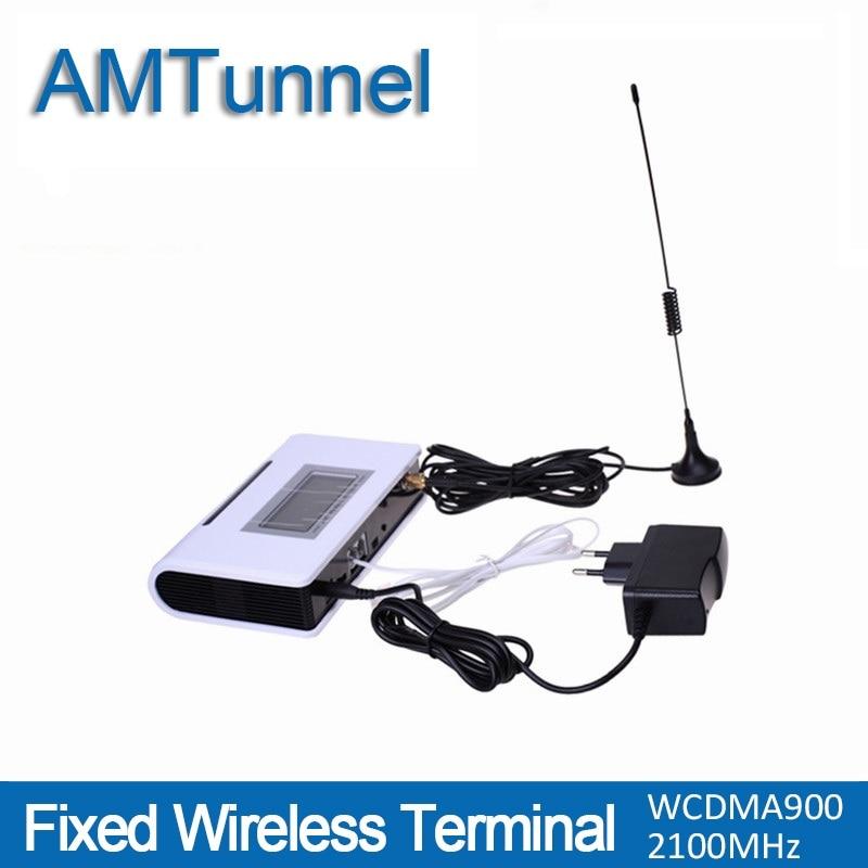 3g WCDMA2100Mhz UMTS FWT terminal fixo sem fio com display LCD para conexão de telefone de mesa para fazer a chamada de telefone