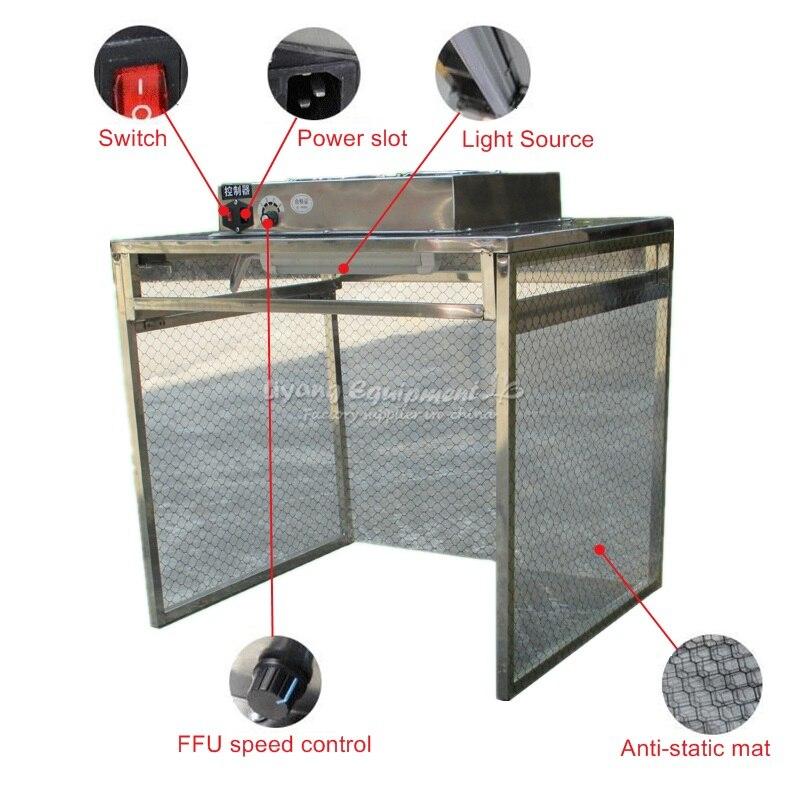Мини Антистатические без пыли питьевой desktop Рабочий стол LY 910 для мобильного lamimator
