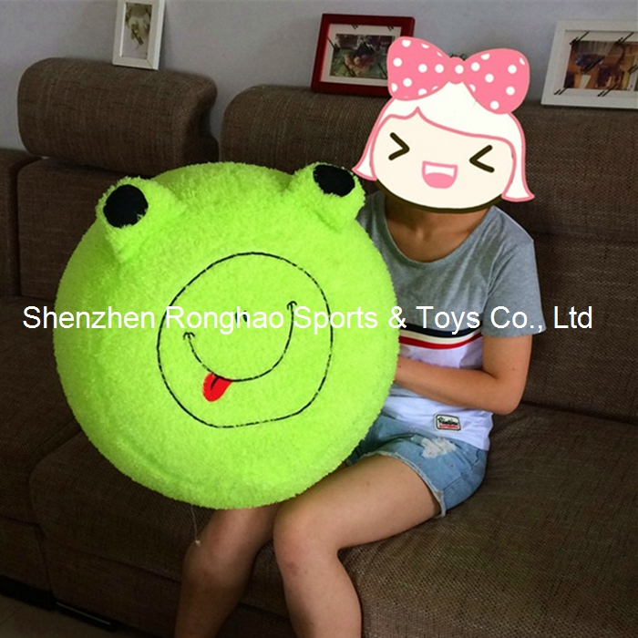 Giant Inflatable Stool Thicken PVC Liner Plush Cover Cartoon Air Pouf Chair Lovely Pneumatic Stools Portable Dog Duck Love Frog