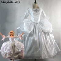 Princess Godmother Cosplay Costume Carnival Halloween costumes Cinderella Godmother dress White party dress custom made