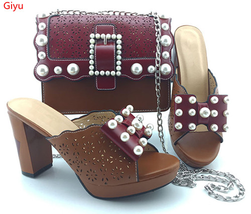 doershow Women African Italian Shoes And Bag Sets For Evening Party With Stones wine Italian Leather Handbags Match Bags!HVC1-48doershow Women African Italian Shoes And Bag Sets For Evening Party With Stones wine Italian Leather Handbags Match Bags!HVC1-48