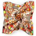 New Brand Small Silk Scarf Spring New Womens Scarfs Fashionable Printed Small Square Silk Scarves