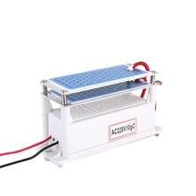 Gerador de ozônio cerâmica portátil 220v 10g duplo integrado longa vida placa cerâmica ozonizador purificador ar água