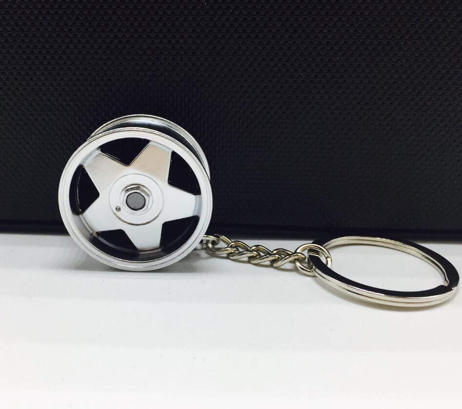 Borbet Wheel Rim Modello Keychain Creativo Accessori Auto Parte Auto Portachiavi Anello portachiavi Keyfob Portachiavi