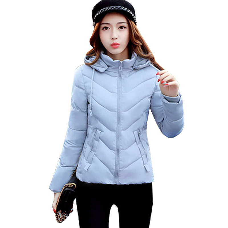 Women Cotton Warm Coat Jacket parkas 2017 fashion new winter outerwear plus size female zipper short Parka jaqueta feminina 5L36 2017 new winter jacket women long slim warm female fashion cotton coat outerwear thick warm winter parkas plus size l 3xl 4l60