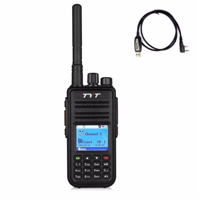 2018 DMR портативная рация TYT tyrea MD 380 цифровой мобильный радиотелефон + гарнитура программа кабель аксессуары UHF 400 480 мГц