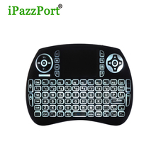 21SL Upgraded version Backlight gaming keyboard 2.4GHz USB Mini Wireless keyboard with TouchPad for Pi 3, Android TV Box , PC