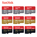 100% оригинальная карта памяти SanDisk Micro SD 16 ГБ 32 Гб microSDHC 64 Гб 128 ГБ 256 ГБ MicroSDXC UHS-I класс 10 карта памяти Tran Flash TF карты