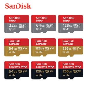 100% original SanDisk Micro SD Card 16GB 32G microSDHC 64G 128G 256G MicroSDXC UHS-I Class10 Memory Card Tran Flash TF Cards