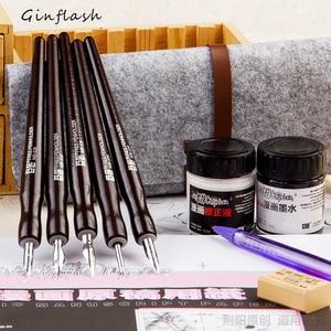 Image 1 - Ручка перьевая с 5 стержнями и 2 чернилами, DP033