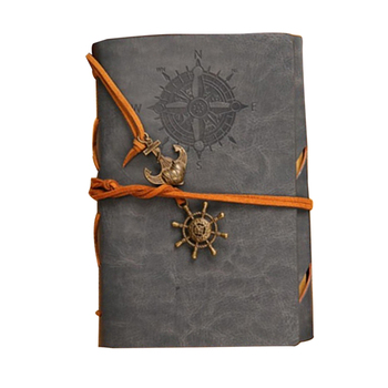 Retro Personality Notebooks Journal Notepads Ring Binder Diary Notebook 8 Colors leather