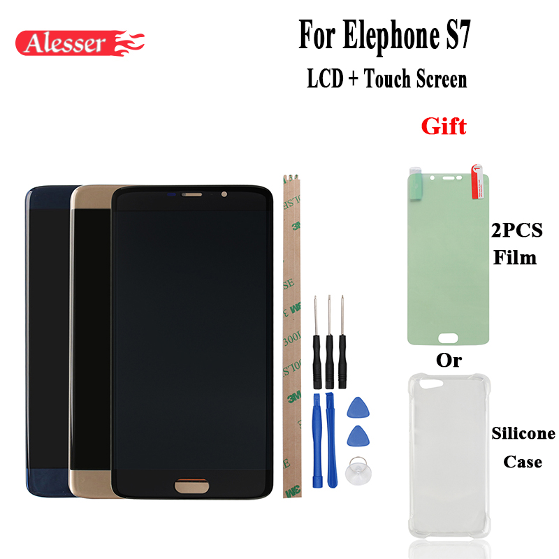 US $19 79 |Alesser For Elephone S7 LCD Display and Touch Screen FPC  HTF055F115 Repair Part 5 5'' Replacement+Tools + Gift For Elephone S7-in  Mobile