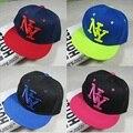 Nova Chegada NY Crianças Snapback Dos Desenhos Animados Bordado Boné de Beisebol do Algodão Meninos & Meninas Snapback Caps Hip Hop Chapéus