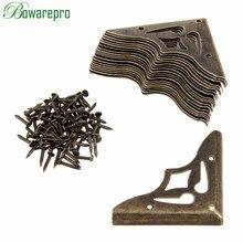 Jewelry-Box Corner-Protector Decorative-Corner Furniture Metal-Craft Wooden Bronze Antique