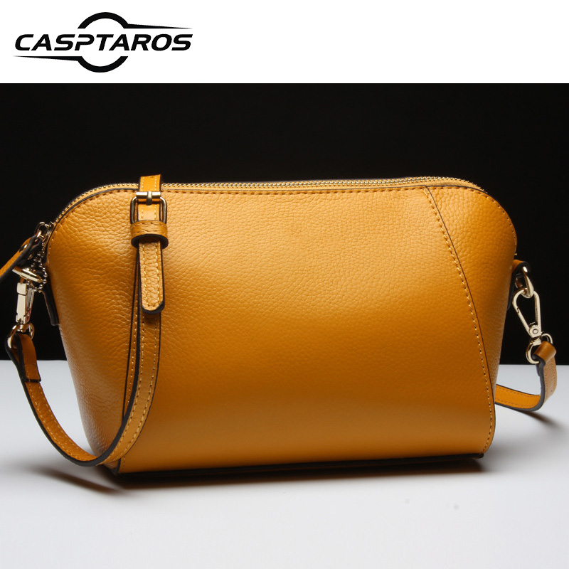 2017 New Women's Small Shoulder Bag Genuine Leather Designer Messenger Bag Satchels Famous Brand High Quality Shell bag Handbags