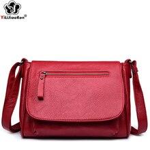 все цены на Fashion Zipper Shoulder Bag Female High Quality Leather Crossbody Bags for Women Bags Designer Clutch Purse Sac Bolsos Mujer онлайн
