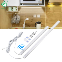 PIR 12V Aluminnum LED Under Cabinet Light Body Sensor Kitchen Wardrobe Night Lighting Lamps Bar Strip Lights