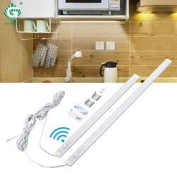 PIR 12V Aluminnum LED Under Cabinet Light Body Light Sensor Kitchen Wardrobe Night Lighting Cabinet Lamps Bar Strip Lights