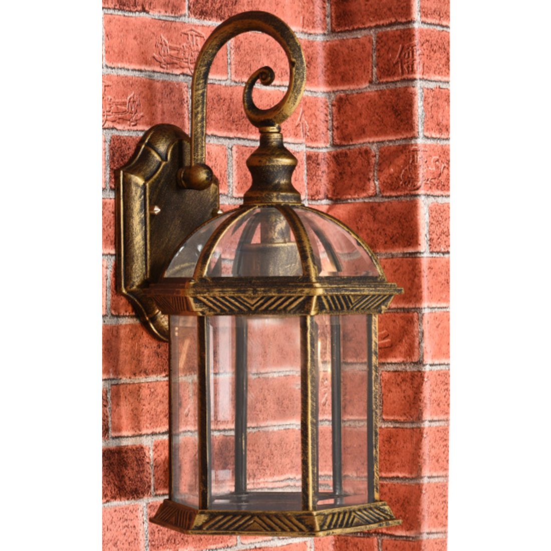 Modern Simple Wall Garden Lamps Outdoor Lighting Cover Creative Villa Garden Balcony Corridor Wall Lamp(No Light Source) S