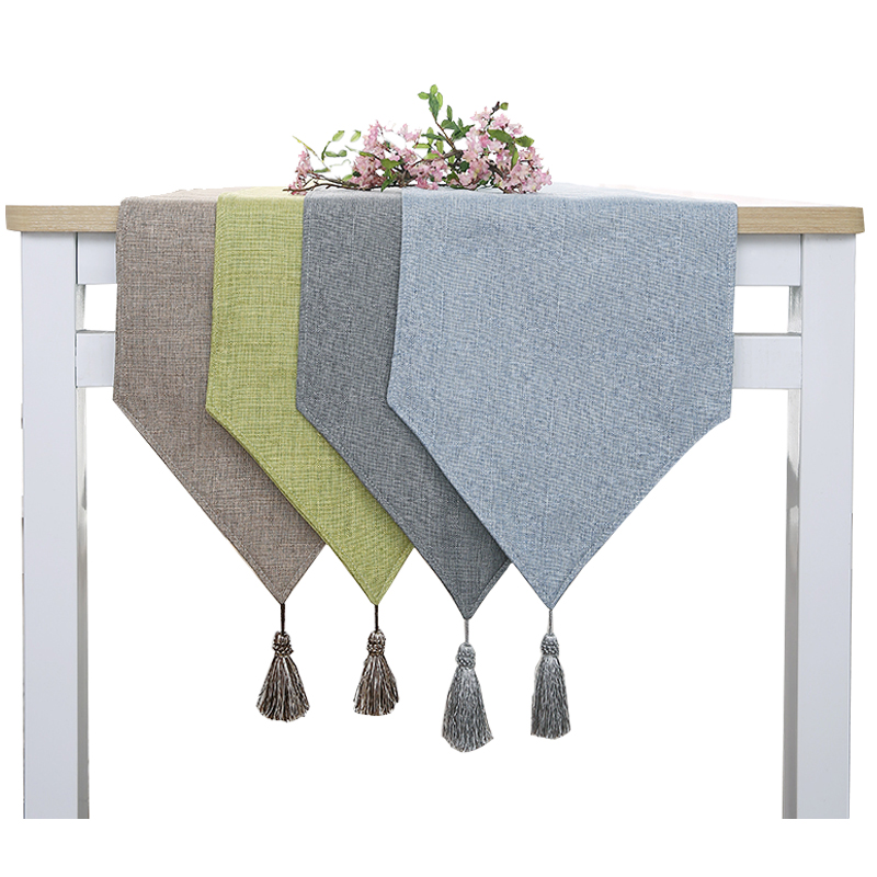 New Chic Rectangular Dining Flag Table Cloth Linen Table Runner Shoe Cabinet TV Cabinet Chemin De Table Tafelloper Arpillera W01