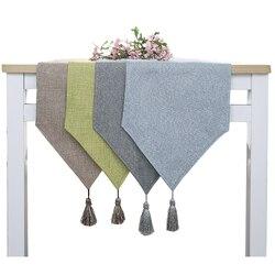 Novo chique retangular jantar bandeira mesa pano de linho mesa corredor sapato gabinete tv gabinete chemin de mesa tafelloper arpillera w01