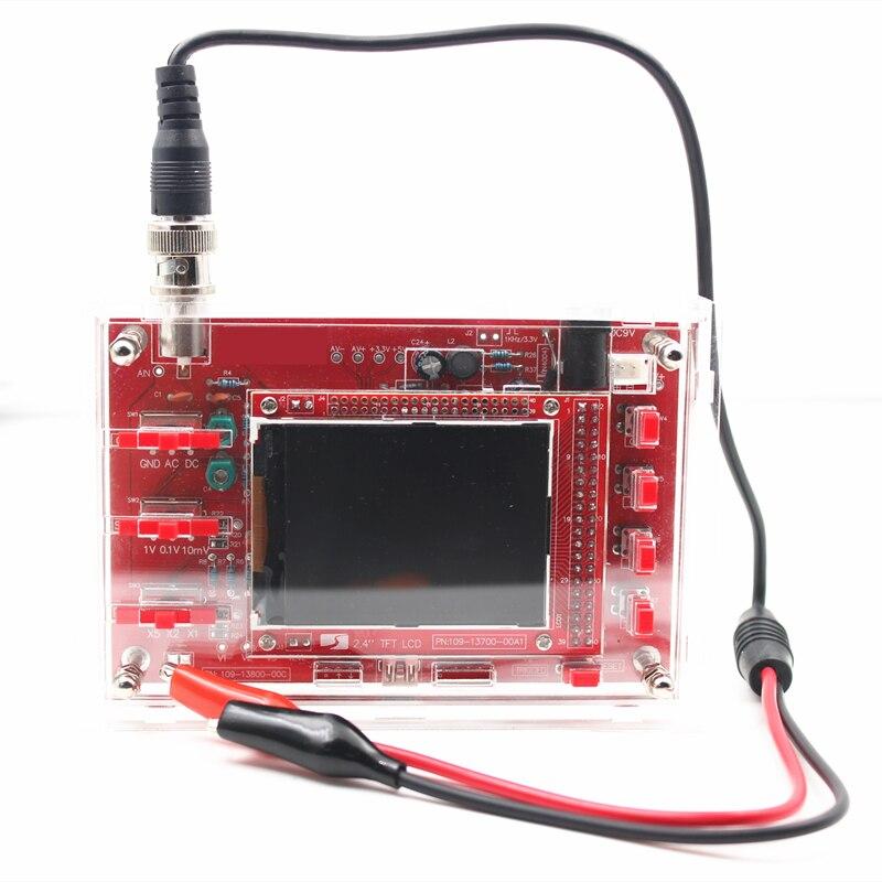 Complet Assemblé DSO138 2.4 TFT Pocket-taille Numérique Oscilloscope Kit DIY Pièces De Poche + ancienne version Couverture Shell pour DSO138
