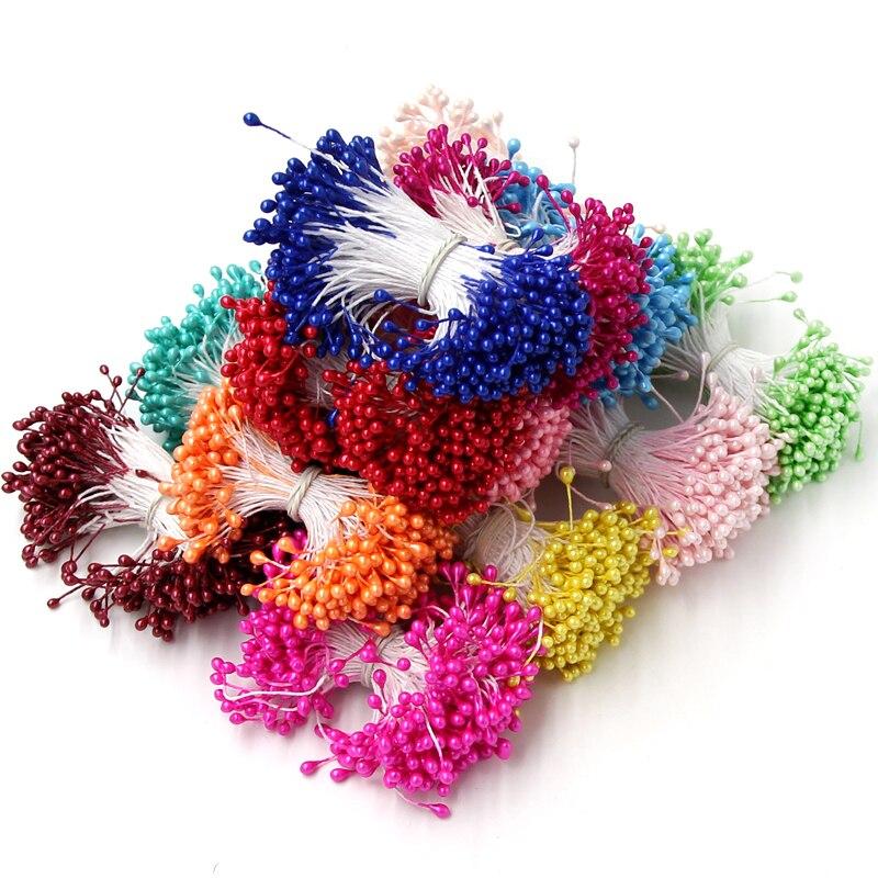 Шт. 1 комплект = 150 шт. искусственный цветок Двойные головки тычинки перламутровые для рукодельные карточки торты украшения Цветочный DIY ВЕНОК интимные аксессуары