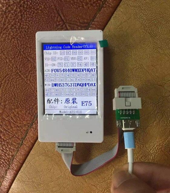 Новейшие Кабельный Тестер Идентификатор для iPhone 6 s 6 Плюс молнии Кабель ID code Reader для iPhone 5 5S iPad 4 air mini 1 2