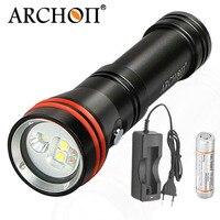 ARCHON D15VP Mini 2 in 1 Diving Underwater Flashlight Video Spot Light * LED White Red Lamp For 18650 battery