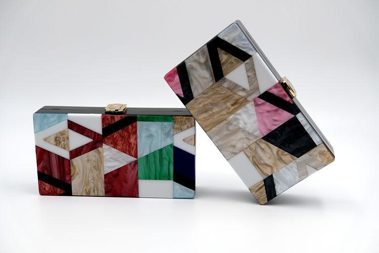 Pochettes de soirée multicolore en PVC