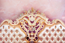 High-grade headboard photography backdrops printed with pink wallpaper and art tufted cloth D-7713