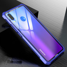 Clear Transparent Tempered Glass Case For Huawei Nova 3 Nova 3i P Smart Plus case Aluminum Metal Frame Bumper Hard Back Cover