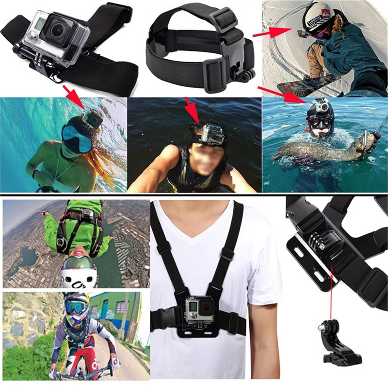 Image 4 - HOMEREALLY Gopro Accessories Set Go pro Chest Head Strap Monopod Floating Bobber For Go pro Hero5 4 Sjcam Sj4000 Sj5000 M10 M20-in Tripods from Consumer Electronics