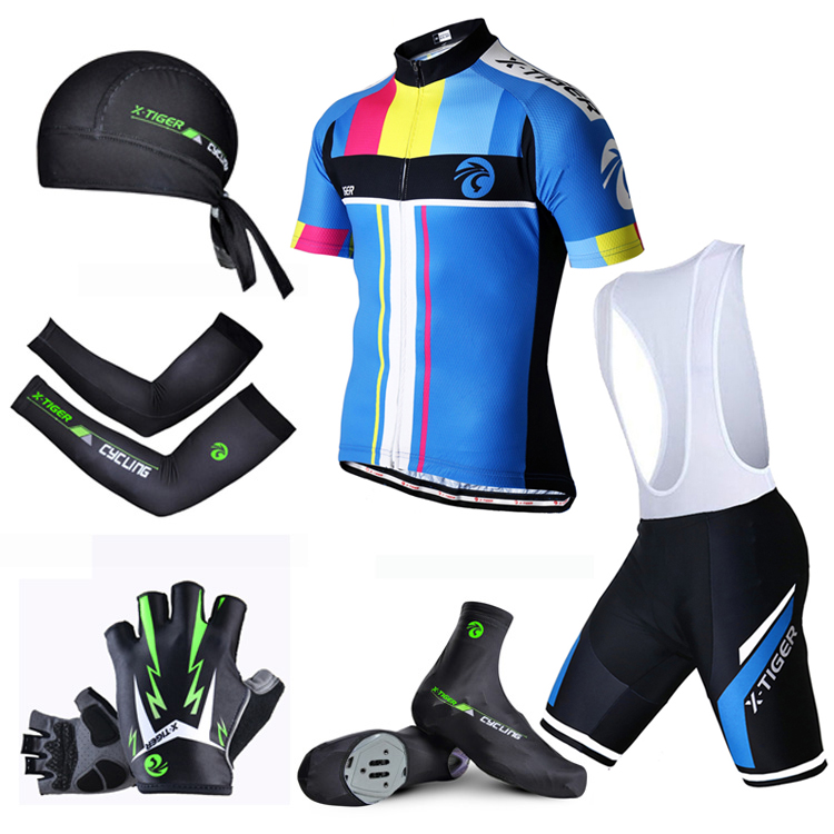 X Tiger Short Sleeve Big Cycling Set Anti UV Racing Bicycle Clothes Wear Maillot Ropa Ciclismo Cycling Clothing MTB Bike Suit-in Cycling Sets from Sports & Entertainment on AliExpress - 11.11_Double 11_Singles' Day 1