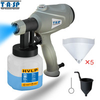 TASP MESG400M 220V 400W Electric Spray Gun HVLP Paint Sprayer For Painting With Adjustable Flow